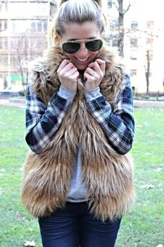 #fauxfur #vest from @BB DAKOTA @Nordstrom with @Tobi #motojeans #motorcyclejeans #skinnyjeans #furvest #casualoutfit #style #winterstyle #layered