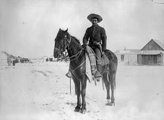 A Buffalo Soldier in the 9th Cavalry, 1890.