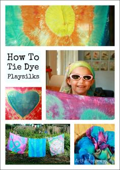 How to Tie Dye Playsilks
