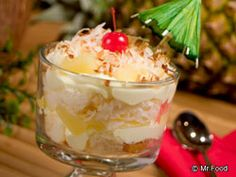 If you're looking for a tropical dessert to get away from the cold weather, check out our fruity recipe for this Pina Colada Trifle. Using ingredients like angel food cake, pineapple, vanilla pudding and more, this is one tropical dessert that'll bring a little sunshine to your day.