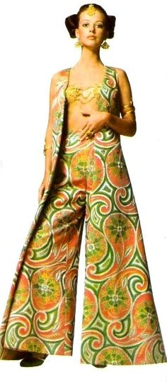 Oriental-inspired harem pants by Uli Richter, 1969, 60s, 60´s, eyes, retro, history, women, men, fashion, blog