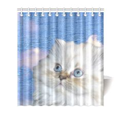 "Cat and Water Shower Curtain 66""x72"". FREE Shipping. FREE Returns."