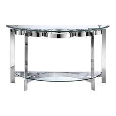 Mercury Console Table in Silver
