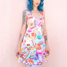 Kittens And Ice Cream Tank Dress!! by JapanLA Clothing - that is too much cute on one dress