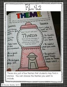 """4th Grade Interactive Reading Notebook (aligned with Common Core) - a good model for middle school, too. I like the """"I can..."""" statements for each standard."""