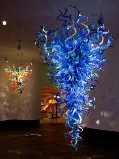 Glass Chandelier by Dale Chihuly
