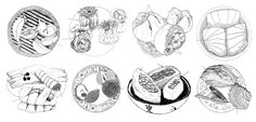 """The Beginner's Field Guide to Dim Sum - ...and carts pushed by """"aunties"""" (a'sam). HOW TO USE THE DIM SUM FIELD GUIDE Regular patrons of North American dim… Huang Kitchen, Dim Sum, Chinese Restaurant, Lucky Peach, Field Guide, Food Science, Food Illustrations, Food Articles, La Eats"""