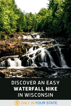 Kids and adults will love this short and easy waterfall hike in Wisconsin. The scenic trail is beginner and family-friendly and offers some amazing views. It's a great way to spend time in nature. Vacation Destinations, Vacation Ideas, Vacations, Waterfall Hikes, Magical Forest, State Parks, Wisconsin, Places To Go, Trail