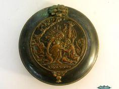 Pasarel - Zel Zion Painted Brass Eliezer & Rebecca Lidded Box, Israel, 1950's. $185.00
