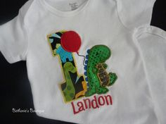 Dinosaur Birthday Shirt Customized SHIPS IN 15 DAYS by TooTuTuCute, $15.99