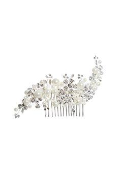 AW1072 | Silver / Pearl Comb | Amanda Wyatt
