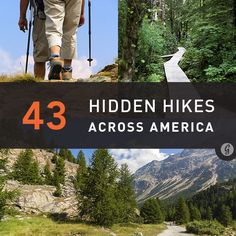 "43 Hidden Hikes to Try. Good list of various difficulties & lengths. Since ""camping/hiking"" trips have been mentioned. Vw Camping, Camping And Hiking, Hiking Trails, Hiking Usa, Backpacking Trails, Hiking Dogs, Colorado Hiking, Camping Ideas, Camping Hacks"