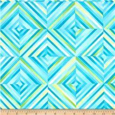Colorwash Geo Block Island Blue