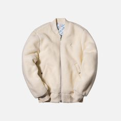 adidas Originals x Alexander Wang Reverse Bomber Jacket - White Bomber Coat, Adidas Brand, Men's Coats And Jackets, Cotton Fleece, Men Online, Alexander Wang, Adidas Originals, Casual, Clothes