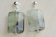 Pale green semiprecious earrings by Dartle on Etsy, $15.00