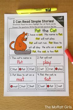 CVC Fluency: Reading Comprehension- These simple stories give beginning and struggling readers a genuine opportunity to build comprehension skills.