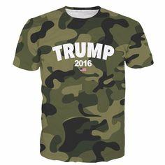Donald Trump President 2016 Camo Military Camouflage Full Print T-shirt. #DonaldTrump #President #2016 #Camo #Military #Camouflage #FullPrint #Tshirt