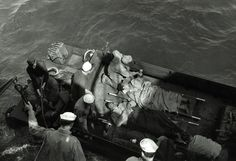 Evacuating the injured off Iwo Jima