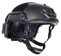 Amazon.com : Adjustable Ops-CORE Tactical Helmet/Base Jump Military Helmet Color: Black (L/XL58-61cm(22-24in)) : Sports & Outdoors Tactical Helmet, Airsoft Helmet, Survival Life Hacks, Survival Skills, Fast Helmet, Sports Helmet, Tactical Clothing, Face Design, Body Armor