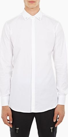 Neil Barrett White Slim-Fit Cotton Shirt The Neil Barrett Slim-Fit Cotton Shirt for AW16, seen here in white. - - This shirt from Neil Barrett is crafted in Italy from premium cotton and cut to offer a slim fit. It is finished with unique li http://www.comparestoreprices.co.uk/january-2017-6/neil-barrett-white-slim-fit-cotton-shirt.asp