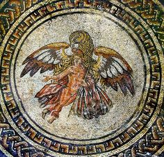 Ganymede & Eagle mosaic at Bignor Roman Villa