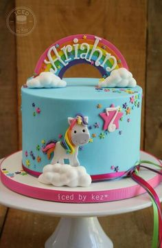 Perfect cake for any little girl from 'Iced by Kez'