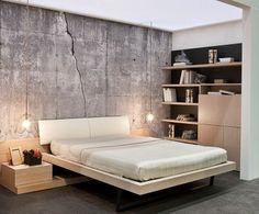 Cama abatible Open Space.  Concrete Wall