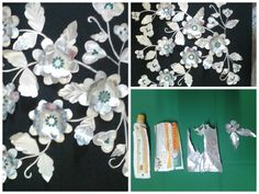 Empty toothpaste tubes flower,,,,procedure