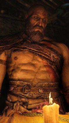 Kratos-God of War Santa Monica, King's Quest, God Of War Game, God Of War Series, War Tattoo, Vikings, Kratos God Of War, Shadow Of Mordor, Spartan Warrior