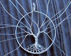 Make your own tree trailer - just faire votre propre pendentif ar .- Bilden Sie Ihren eigenen Baumanhänger – gerade Faire votre propre pendentif ar… Make Your Own Tree Trailer – Just Faire … - Wire Crafts, Jewelry Crafts, Wire Wrapped Jewelry, Wire Jewelry, Jewellery, Etsy Jewelry, Jewelry Rings, Bijoux Fil Aluminium, Tree Of Life Jewelry