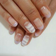 Preppy Lilac Nails