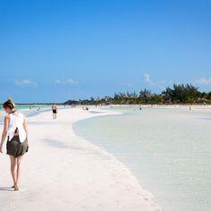 Beach baby, Traumstrand auf der Isla Holbox in Mexiko
