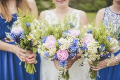 Image by Sarah-Jane Ethan Photography - A fun outdoor wedding in Northumberland with a blue colour scheme, bridesmaids and flowersand wedding gown by Mia Sposa and photography by Sarah-Jane Ethan
