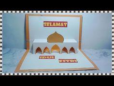Kartu lebaran bentuk masjid dari kertas Mosque pop up card DIY - YouTube