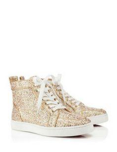 CHRISTIAN LOUBOUTIN Rantus Orlato Flat Glitter Sneakers