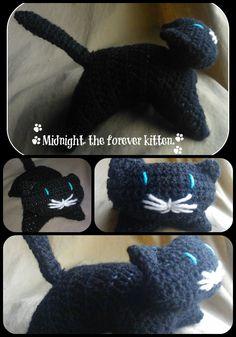 kitten cat toy stuffed crochet animal doll made in by handyhooker, Crochet Animals, Crochet Hats, Sick Kids, Chrochet, Cat Toys, Cats And Kittens, Crochet Necklace, Dolls, Trending Outfits