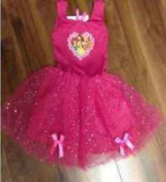 Disney-disfraces-Tutu-Girls-Disney-princesa-bailarina-vestido-rosa-NEW-3-4yr