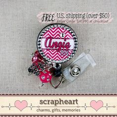 BSN RN Name Badge Reel Personalized With Name by ScrapheartGifts