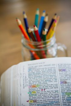 12 ideas to switch up your scripture study. New Era Lds Scriptures, Bible Verses, Bible Art, Lds Church, Church Ideas, Scripture Study, Scripture Journal, Art Journaling, Book Of Mormon