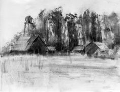Landscape drawing unique the main loop charcoal drawing a logical method video Beautiful Pencil Drawings, Landscape Pencil Drawings, Landscape Sketch, Art Drawings, Nice Landscape, Mass Drawing, Drawing Tips, Drawing Ideas, Charcoal Art
