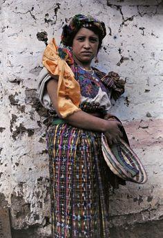 South America | Portrait of an Ixil woman wearing traditional clothes and headdress, El Quiché, Huehuetenango, Guatemala #maya