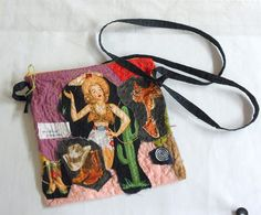 Cross Body Purse  Pocketbook with Long Strap  Southwest Applique Shoulder Bag  OOAK Design Purse Cowgirl Crossbody Purse by Quiltwear on Etsy