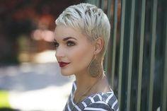 PYP | Home Platinum blonde pixie short hair
