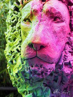 Sculpture monumentale d'un Lion by Olivier Courty #streetart #art #news #OlivierCourty #artcontemporain #popart #sculpture #french #sculptor #design #