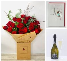 Valentines Deluxe 24 Rose Gift Set: Booker Flowers and Gifts. #valentinesflowers #liverpoolflorist #flowersdelivered #flowerdelivery | Booker Flowers and Gifts Liverpool, Merseyside | Flower Delivery Liverpool - Same Day Delivery option | Florist Liverpool | Flower & Gift Shop Liverpool I Love You Balloons, Love Balloon, Mini Roses, Red Roses, Gin Gifts, Pink Rose Bouquet, Valentines Flowers, Rose Gift, Flowers Delivered