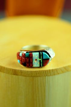 Navajo Inlaid Rings | Wilbur Manning Rings | Native American Rings