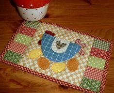 Spring Chicken & Eggs Mug Rug PDF Pattern