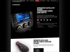 Dodge.com 2012-2010 by Alex Marzo, via Behance