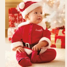 Personalized Baby Boy Santa Suit