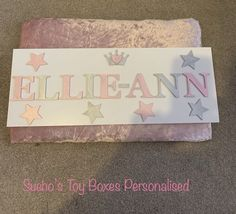 Personalised Toy Box, Toy Boxes, Toy Chest, Storage Chest, Craft Ideas, Toys, Crafts, Home Decor, Activity Toys
